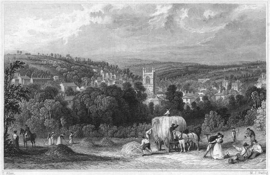 Associate Product CORNWALL. View of the Town of Bodmin 1831 old antique vintage print picture