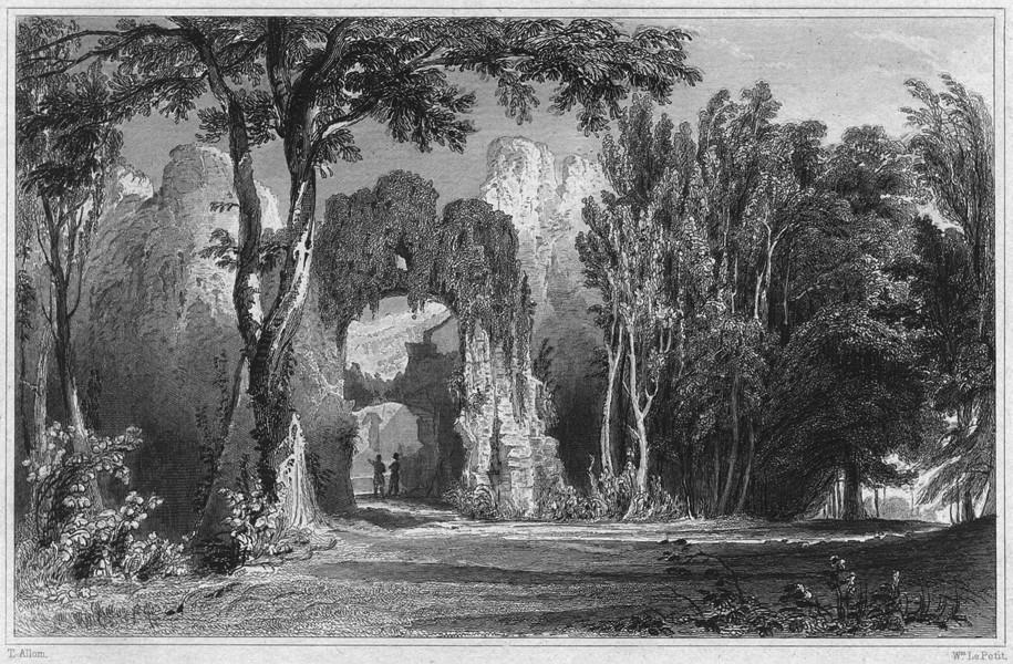 Associate Product CORNWALL. Restormel Castle 1831 old antique vintage print picture