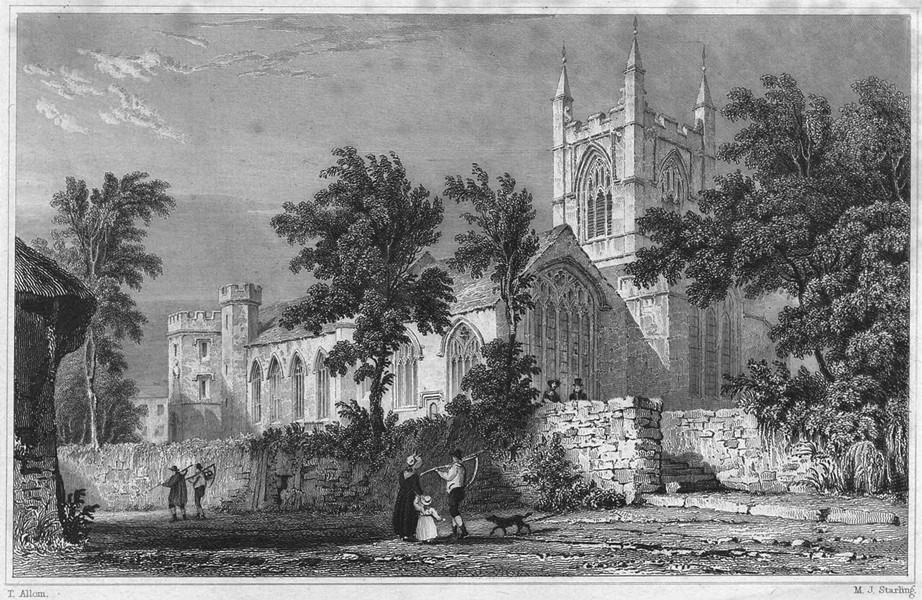 Associate Product CORNWALL. Bodmin Church 1831 old antique vintage print picture