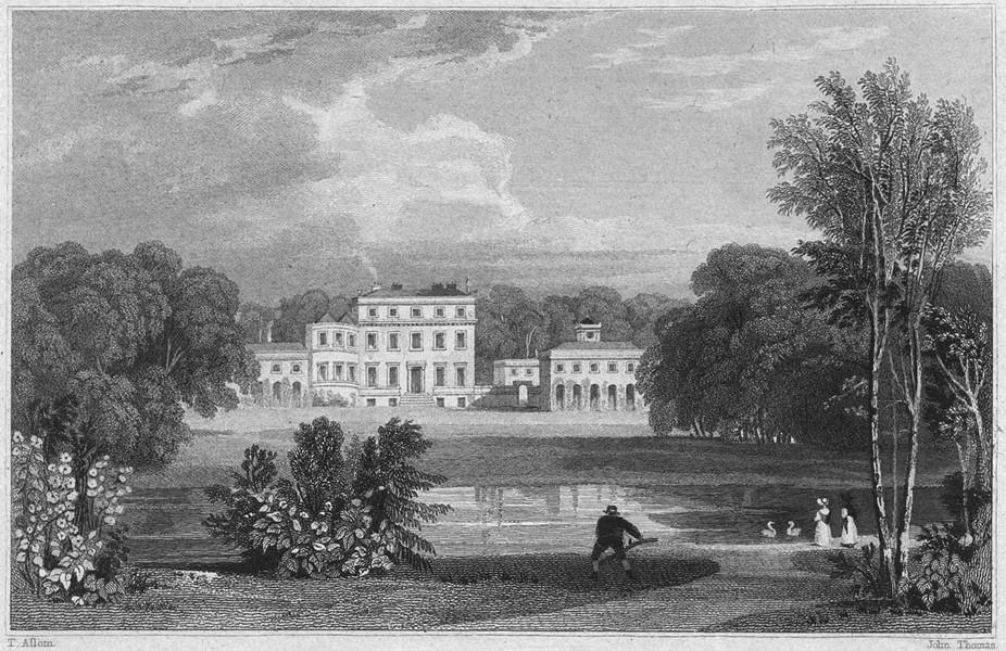 Associate Product CORNWALL. Tehiddy House (Seat of Francis Basset, Baron de Dunstanville) 1831