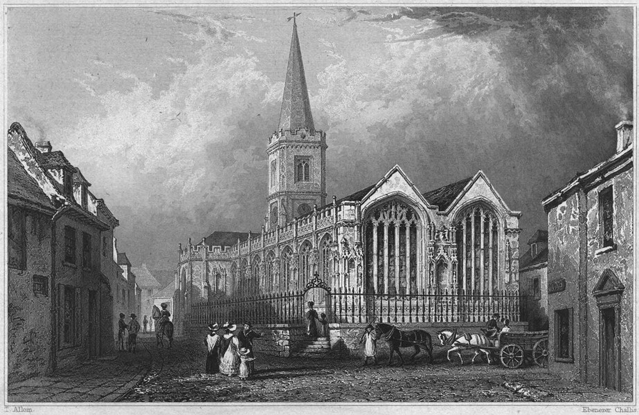 Associate Product CORNWALL. Truro Church 1831 old antique vintage print picture