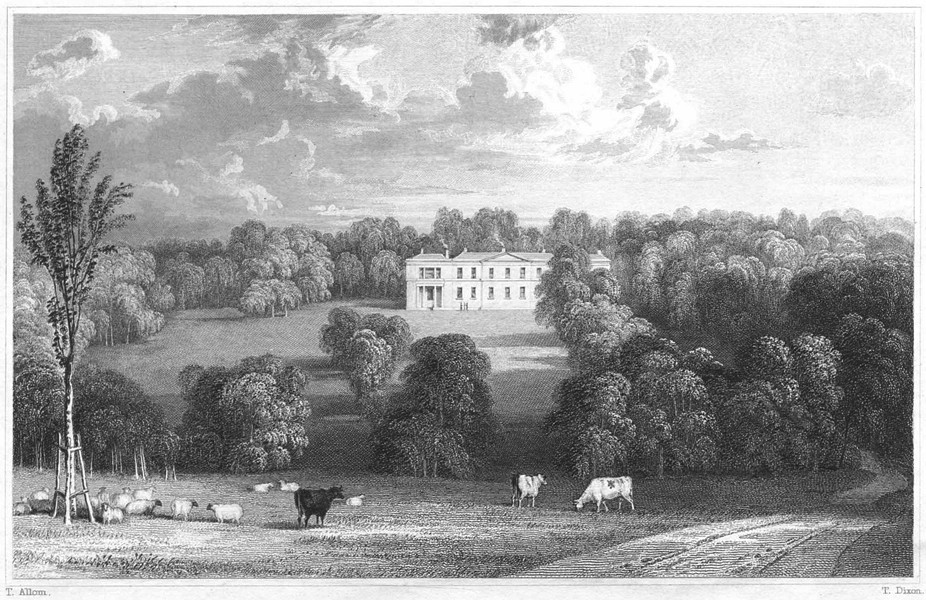 Associate Product CORNWALL. Trewarthenick House (The seat of GWF Gregor Esq) 1831 old print