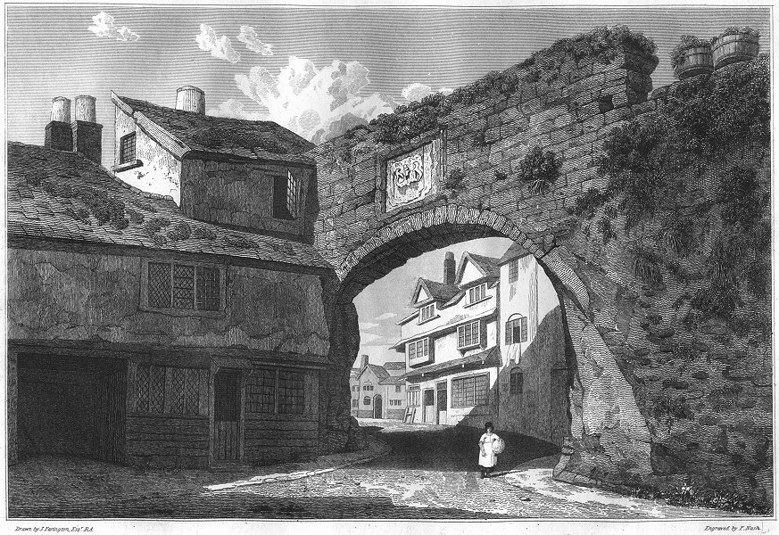 Associate Product DEVON. Watergate down in 1815 1822 old antique vintage print picture