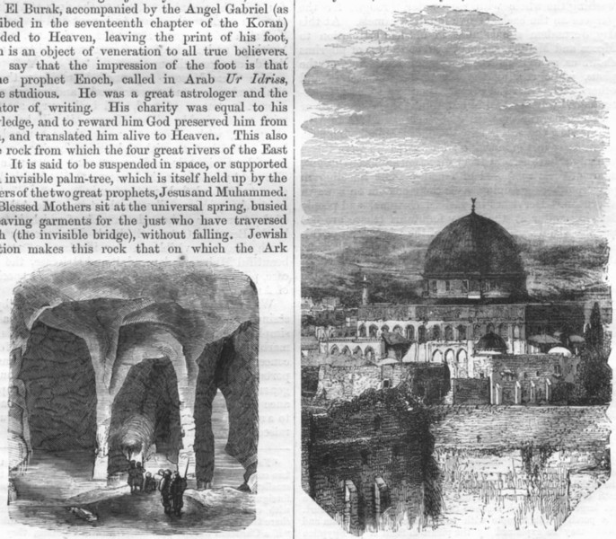 Associate Product ISRAEL. Jerusalem. Pool of Bethesda 1870 old antique vintage print picture