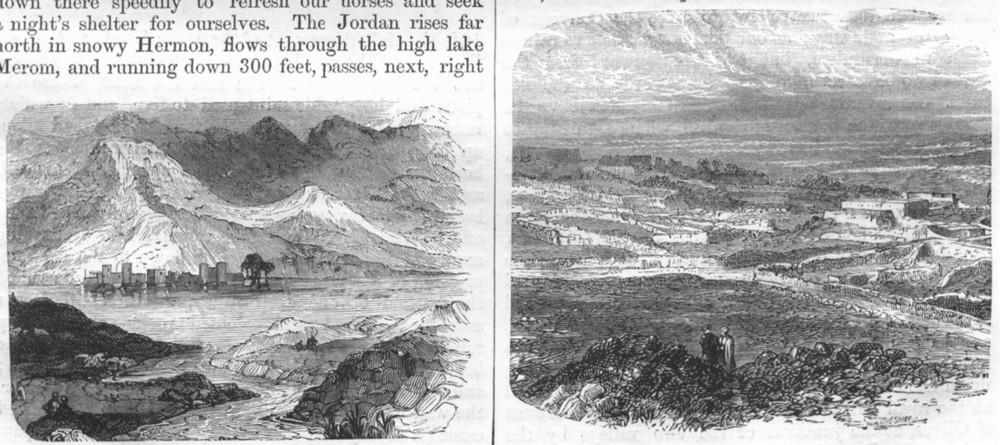 Associate Product ISRAEL. Jerusalem. Jordan, Sea of Tiberias; Bethel 1870 old antique print