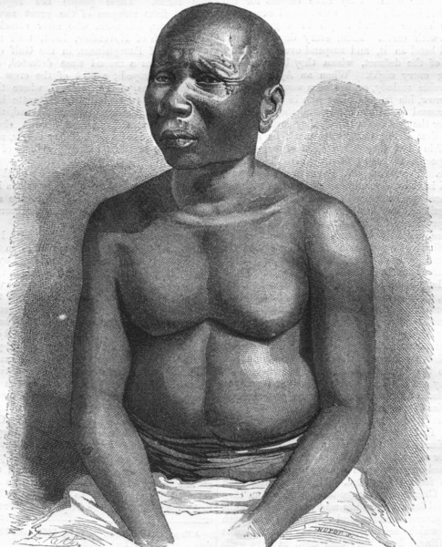 Associate Product INDIA. A Native of Andaman Islands 1870 old antique vintage print picture