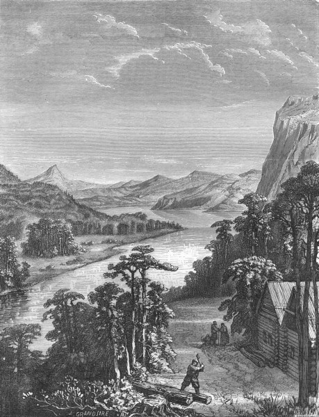 Associate Product RIVERS. Amoor. River & King-Gan Mountains 1870 old antique print picture
