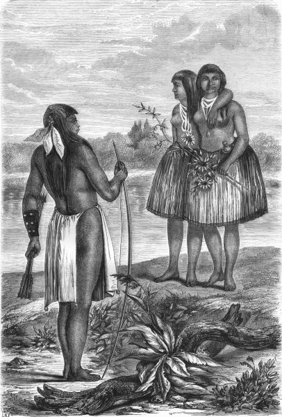 Associate Product USA. Indians of Rio Colorado 1870 old antique vintage print picture
