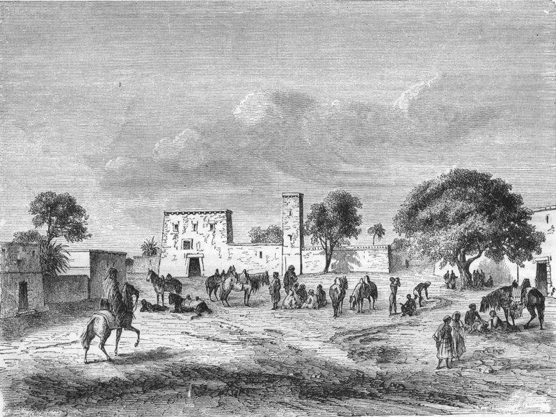 Associate Product GHANA. Dendal Boulevard at Kuka 1870 old antique vintage print picture