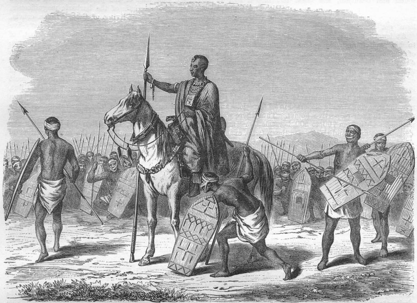 Associate Product CHAD. Kanembu Chief 1870 old antique vintage print picture