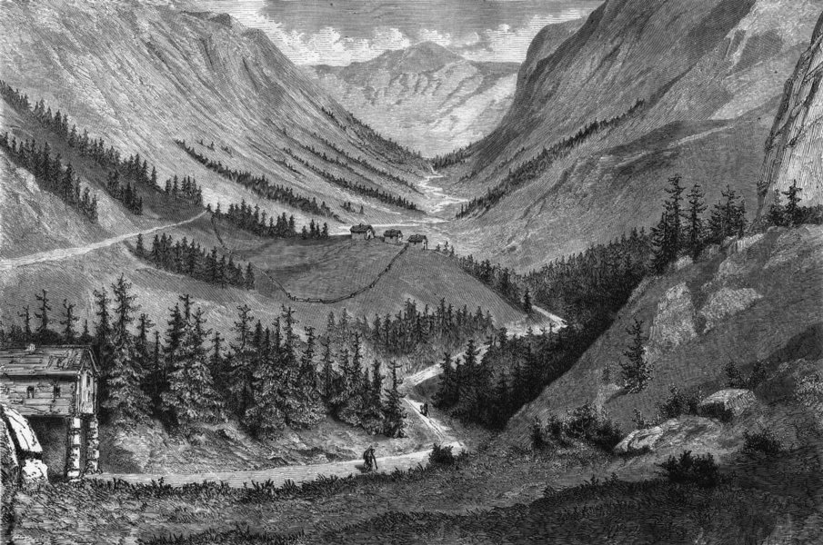 Associate Product NORWAY. Valley of Vestfiordla 1871 old antique vintage print picture