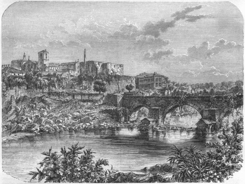 PORTUGAL. Barcelos 1871 old antique vintage print picture