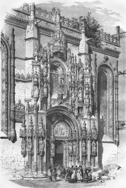 Associate Product PORTUGAL. Porch of Sta Maria at Belem 1871 old antique vintage print picture