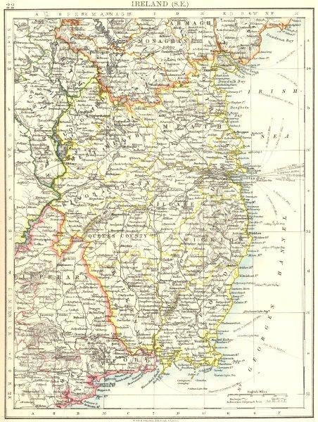Associate Product LEINSTER. Meath Dublin Longford Wexford Wicklow.  SE Ireland. JOHNSTON 1899 map