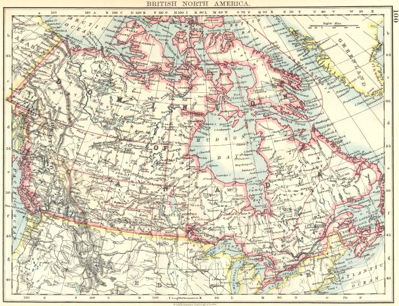 Associate Product BRITISH NORTH AMERICA. Colonial Canada. Canadian Pacific railroad 1899 old map