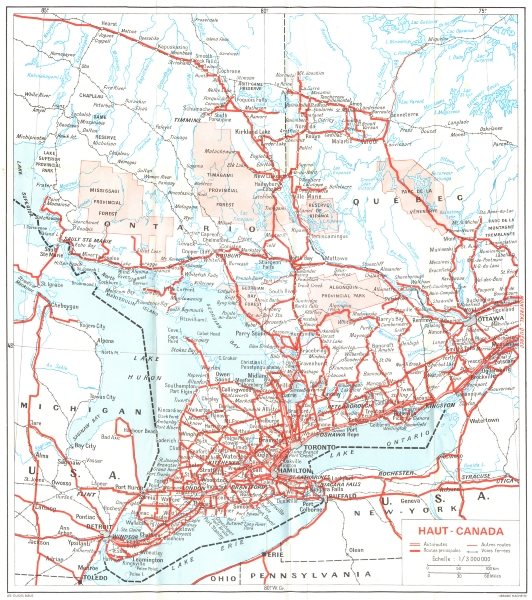 Associate Product CANADA. Haut High 1967 old vintage map plan chart