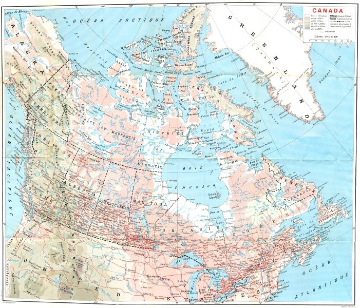 Associate Product CANADA. Canada 1967 old vintage map plan chart