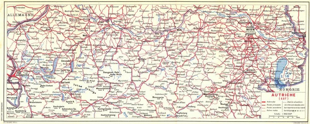 Associate Product AUSTRIA. Autriche(Est) 1954 old vintage map plan chart