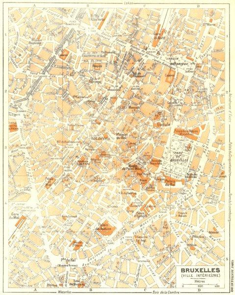 Associate Product BELGIUM. Bruxelles 1953 old vintage map plan chart
