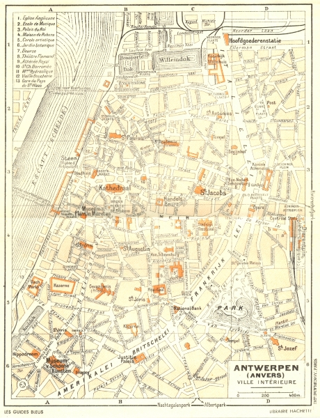 Associate Product BELGIUM. Antwerpen(Anvers) 1953 old vintage map plan chart