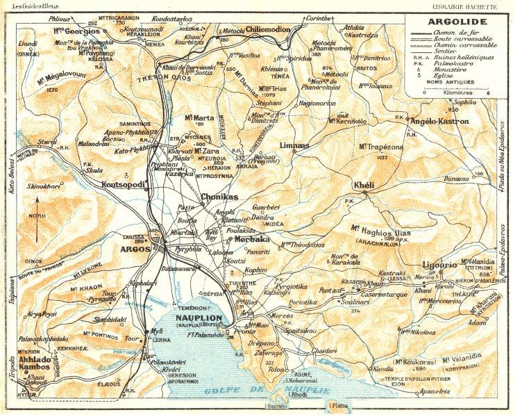 Associate Product ARGOLIS. Argolide. Argos & Nafplion environs. Greece 1956 old vintage map