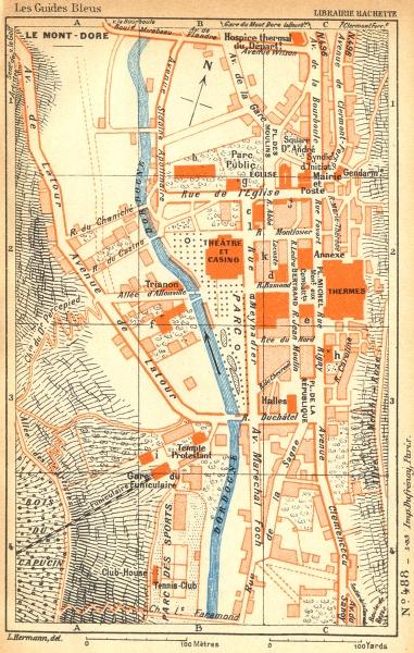 Associate Product PUY-DE-DÔME. Mont-Dore 1935 old vintage map plan chart