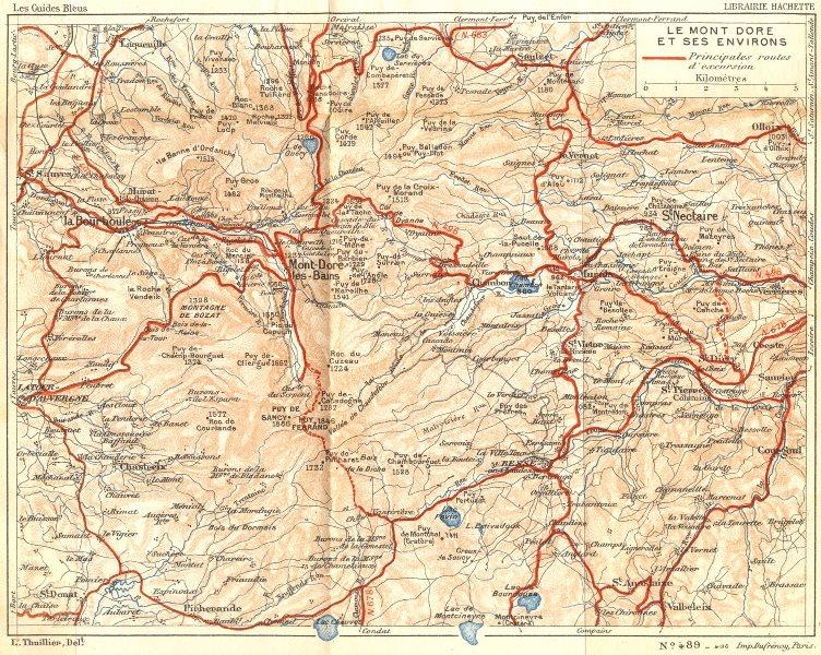 Associate Product PUY-DE-DÔME. Mont Dore 1935 old vintage map plan chart