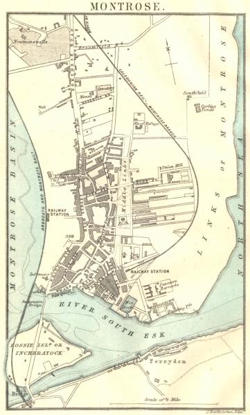 Associate Product SCOTLAND. Montrose town plan 1887 old antique vintage map chart