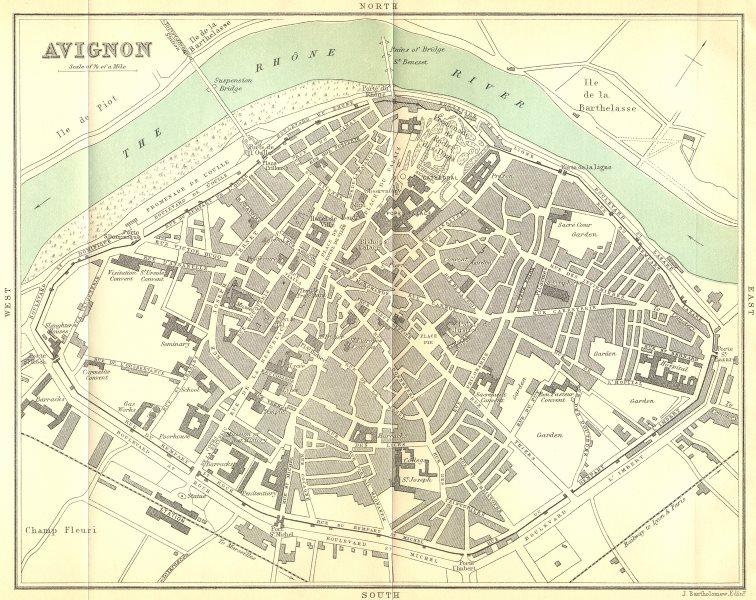 Associate Product VAUCLUSE. Avignon 1899 old antique vintage map plan chart