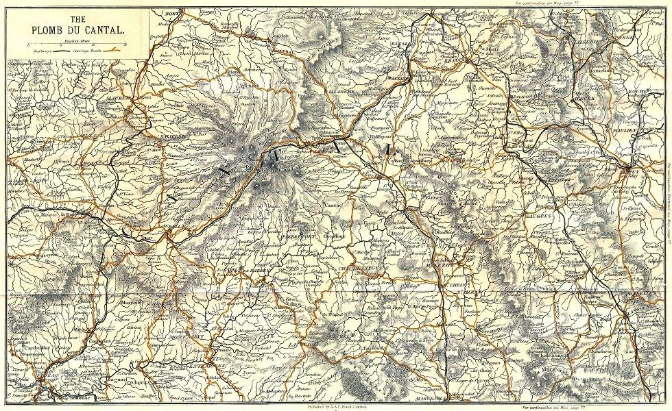 Associate Product CANTAL. Plomb du 1909 old antique vintage map plan chart
