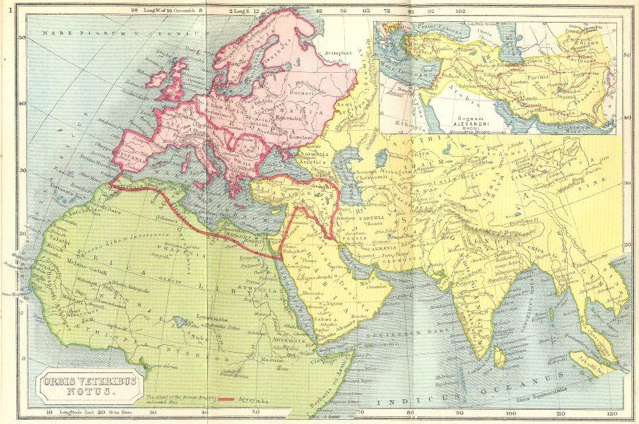Associate Product ORBIS VETERIBUS NOTUS. Roman Empire; Alexander 1908 old antique map plan chart