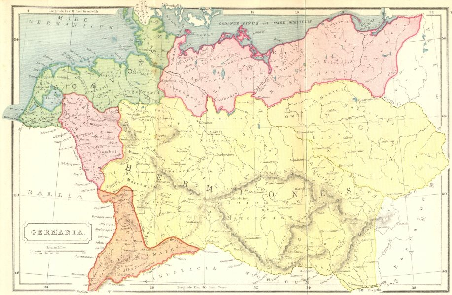 Associate Product GERMANY. Germania Roman 1908 old antique vintage map plan chart