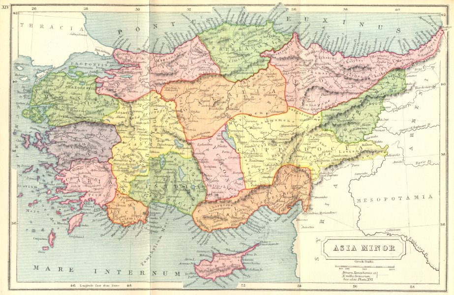 Associate Product TURKEY. Asia Minor Ancient 1908 old antique vintage map plan chart