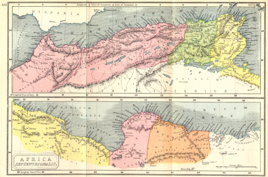 Associate Product AFRICA. Septentrionalis North Ancient 1908 old antique vintage map plan chart