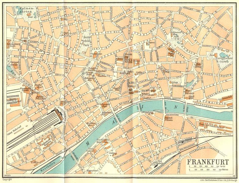 Associate Product GERMANY. Frankfurt 1931 old vintage map plan chart
