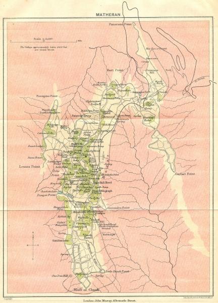 Associate Product BRITISH INDIA. Matheran Hill station. Maharashtra. 1924 old vintage map chart