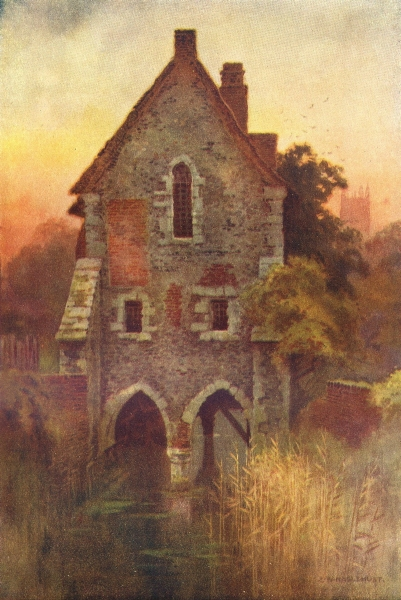 Associate Product The Greyfriars House, Canterbury. Kent. By Ernest Haslehust 1920 old print