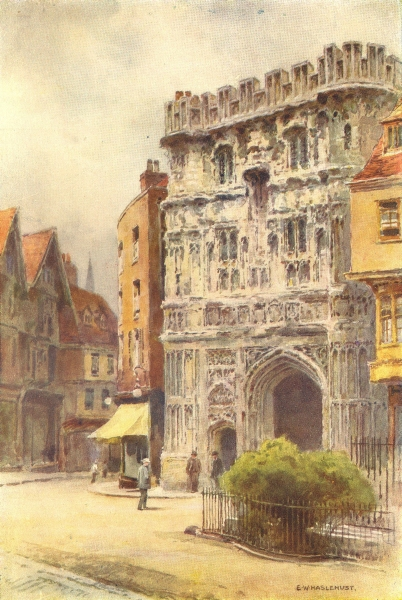Associate Product Christ Church Gate. Cathedral Precincts, Canterbury Cathedral. Haslehust 1920