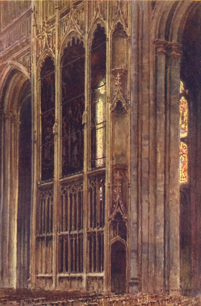 Associate Product Wykeham's Chantry, Winchester. Hampshire. By Ernest Haslehust 1920 old print