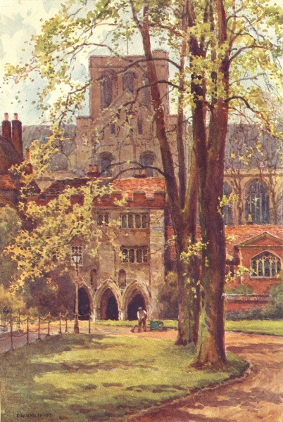 Associate Product Entrance to the Deanery, Winchester. Hampshire. By Ernest Haslehust 1920 print