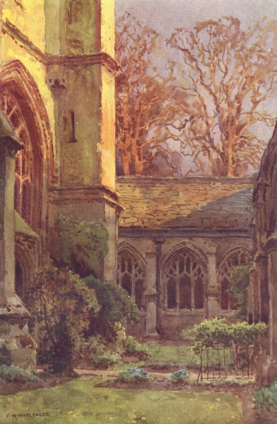 Associate Product The Cloisters, Winchester College. Hampshire. By Ernest Haslehust 1920 print