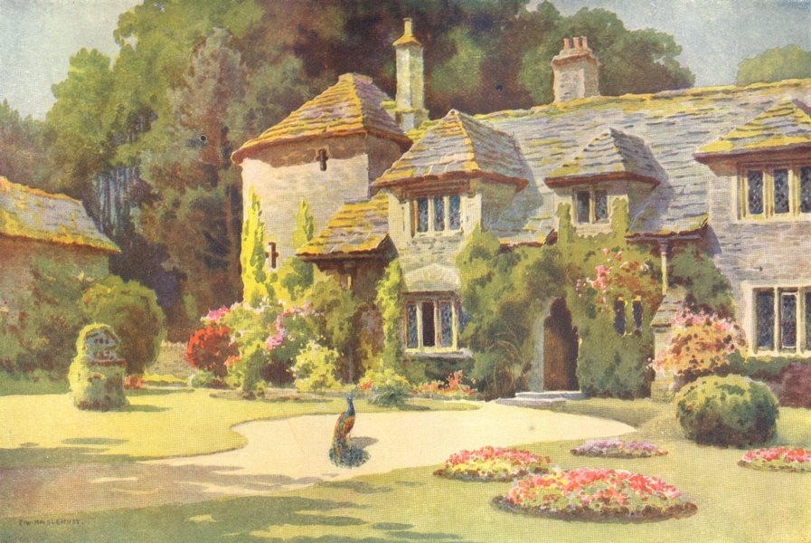 Associate Product Goldingstone Manor, Swanage. Dorset. By Ernest Haslehust 1920 print