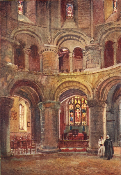 CAMBRIDGE. Norman Church Holy Sepulchre 1907 old antique vintage print picture