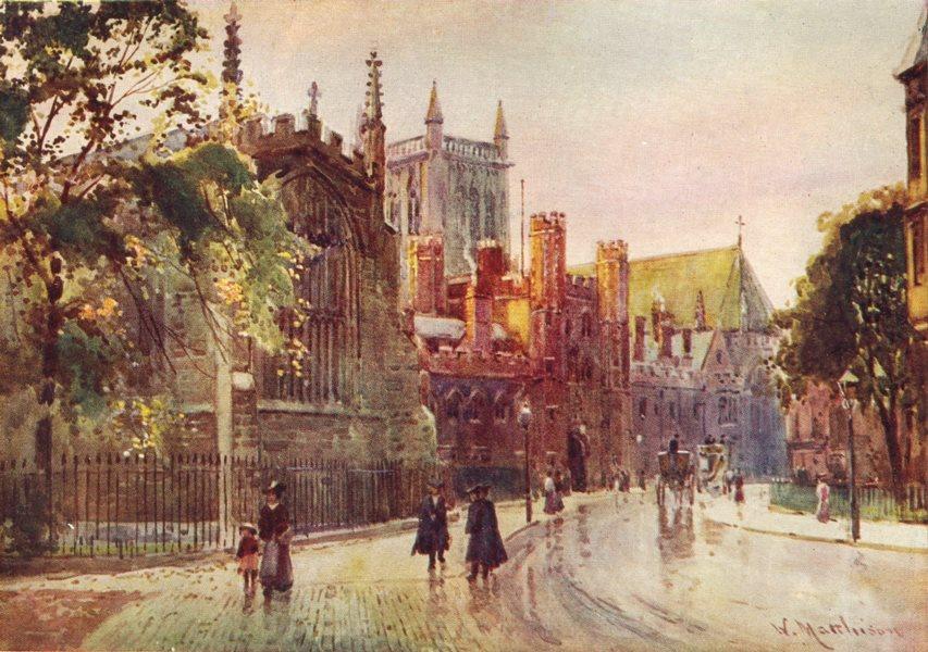 Associate Product CAMBRIDGE. St John's College Gateway & Tower 1907 old antique print picture