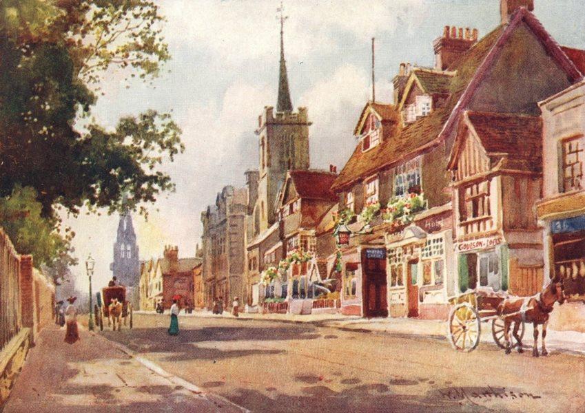 Associate Product CAMBRIDGE. University of. Castle Inn 1907 old antique vintage print picture