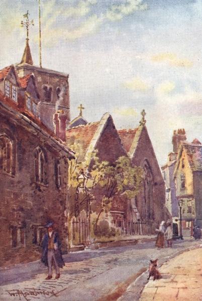 Associate Product CAMBRIDGE. St Benedict's Church Free School La 1907 old antique print picture