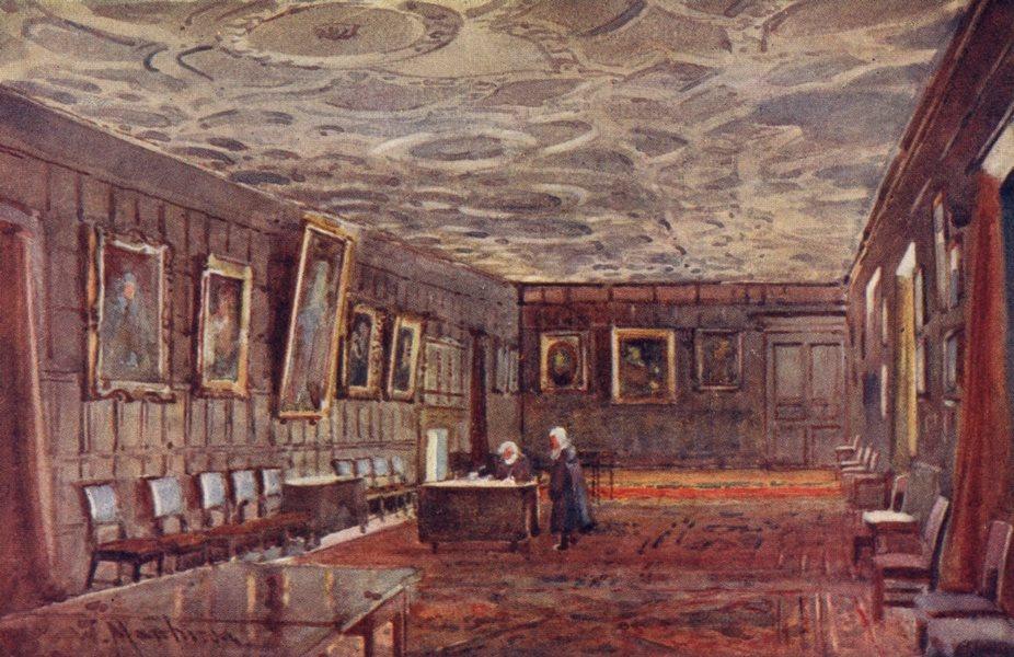 Associate Product CAMBRIDGE. Combination room, St John's College 1907 old antique print picture