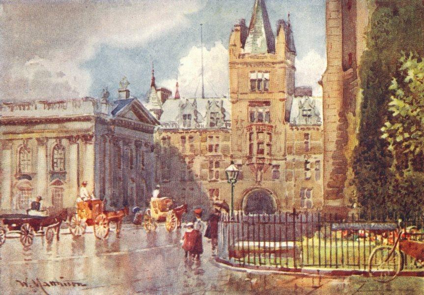 Associate Product CAMBRIDGE. Caius College & Senate House 1907 old antique vintage print picture