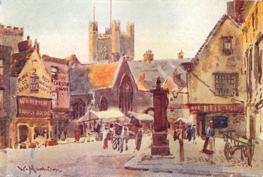 CAMBRIDGE. Peashill 1907 old antique vintage print picture