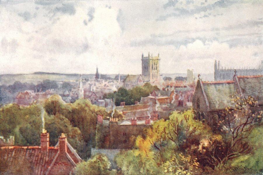 Associate Product CAMBRIDGE. Castle Hill 1907 old antique vintage print picture